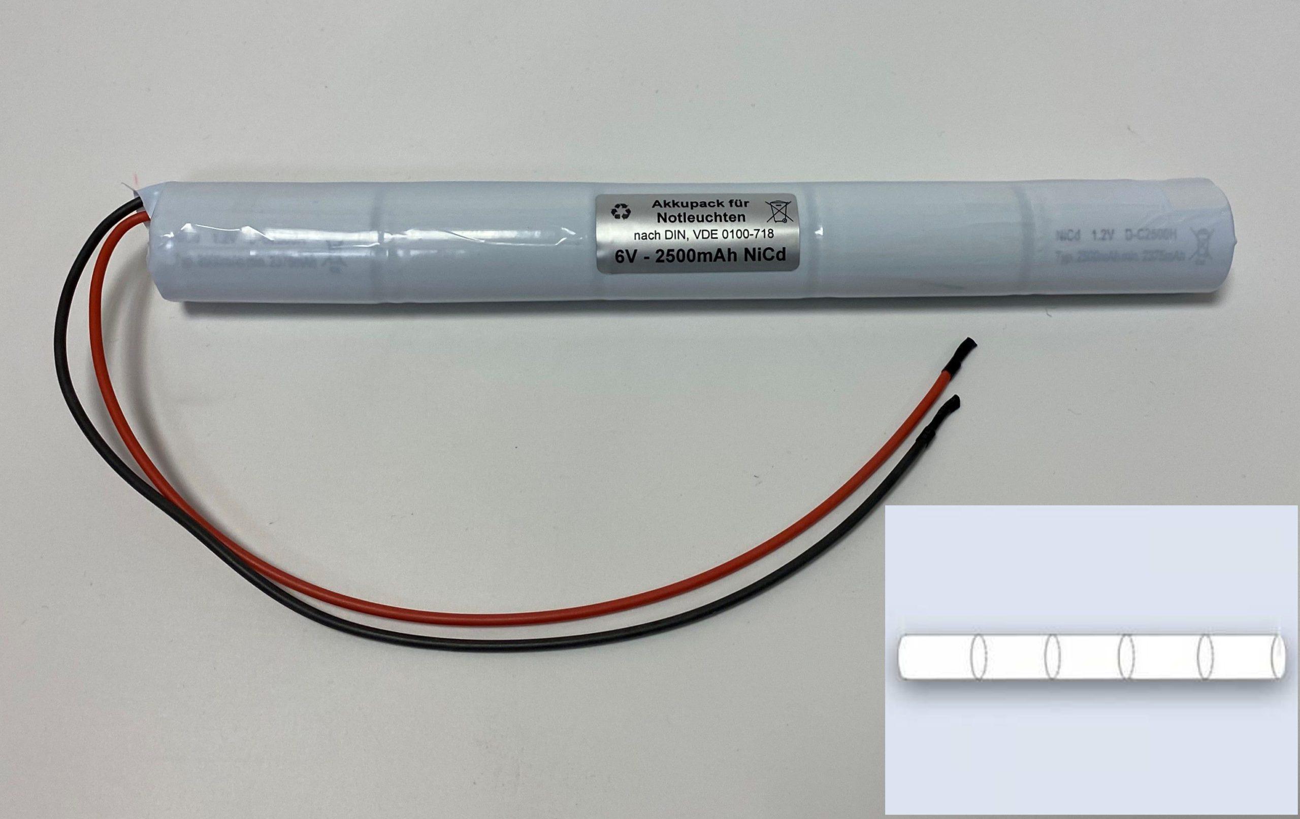Akkupack für Notleuchten - 5/C2500-S